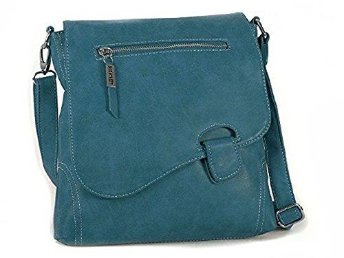 black Street Shoulder Blue Black Look Handbag Bag Atlanta Used Latched ZCwxqCd0