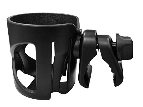 Serenily Stroller Drink Cup Holder, Great for Wheelchairs, Bicycles, Office Chairs and Scooters. Adjustable Water Bottle Cage. (Chair Axis)