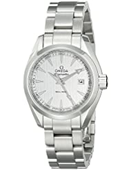Omega Womens 23110306002001 Analog Display Swiss Quartz Silver Watch