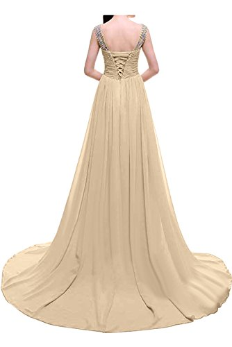 Steine Elegant Promkleid Himmelblau Abendkleider Lang Damen Ivydressing Festkleider Ballkleid Chiffon qS1gAXx