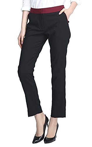 Urban CoCo Women's Straight Leg Trouser Pants Slim Fit Casual Trousers