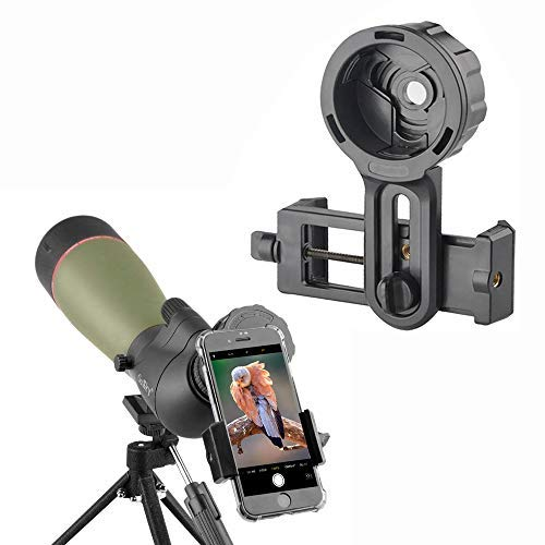 Gosky Telescope Phone Photo Adapter - Compatible Spotting Scope Binoculars Monocular Telescope, Fit Almost All Brands Smartphones