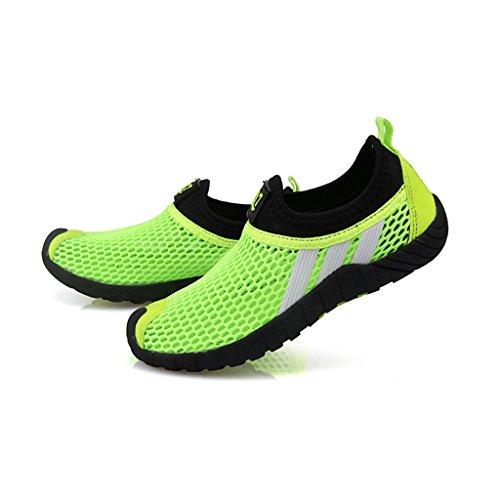 Unisex-niños Malla transpirable/Zapatos del ocio/Peso ligero transpirables zapatillas Verde