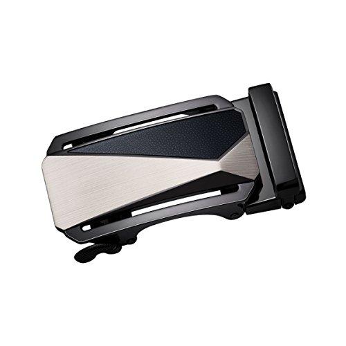 Dubulle Detachable Buckle For Mens Ratchet Belt Alloy Removable Metal Automatic Buckle Designer Fashion Novelty (Detachable Belt Buckle)
