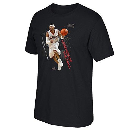 NBA Philadelphia 76ers Men's Legends Short Sleeve Tee, Large, Black