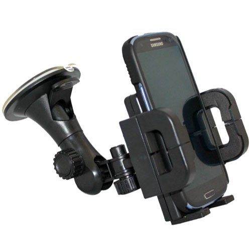 Two Locking Pedestals - Xenda Universal Windshield Car Mount Window / Desk Suction Cup Cell Phone Holder Stand for US Cellular Samsung GALAXY Note 2 SCH-R950 - Samsung Galaxy S 2 II S2 - Samsung Galaxy S3 S 3 III SCH-R530 - Samsung Galaxy S Aviator