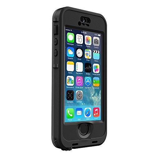 LifeProof NÜÜD SERIES Waterproof Case for iPhone 5/5s/SE - Retail Packaging - BLACK (BLACK/SMOKE) by LifeProof (Image #2)