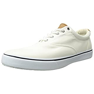 Sperry Mens Striper LL CVO Sneaker, White, 11.5 Wide