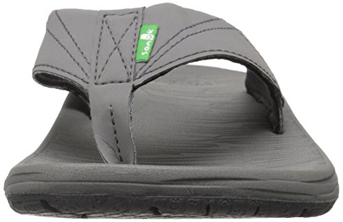 Sanuk Men's Latitude Flip Flop Charcoal Za3ZqWA3pi