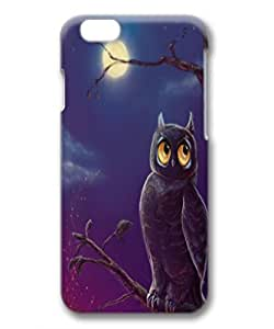iphone 6 case,PC 3D Cover for iPhone 6 with Screen,Scratch Resistant,safe and protective,light weight,PERFECT PATTERN Flexible Slim fashion Case Cover for Apple iPhone 6,owl by runtopwell