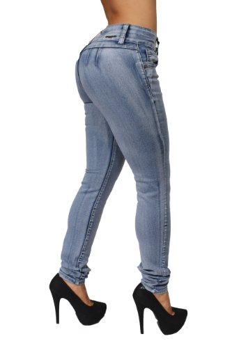 Butt Lift Colombian Style Skinny Leg Jeans By Crocker CR-M636LBLU (5) by Diamante (Image #1)