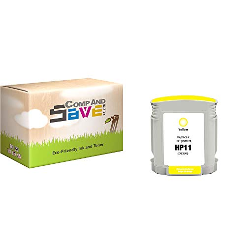 CompAndSave Replacement for HP Business Inkjet 2280tn Printer Inkjet Cartridge, HP 11 C4838AN C4838A Yellow Ink Cartridge