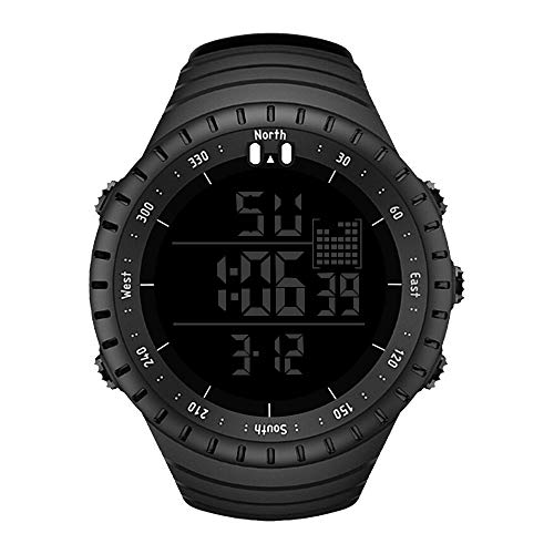 WUAI Men's Analog Digital LED Sports Watches Military Multifunction Dual Time Stopwatch Waterproof Chronograph Wrist Watch (Led Swatch Women Watch)