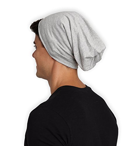 Tough Headwear Slouchy Lightweight Surf Beanie Hat - Oversized Slouch Skull Cap That Fits Great - Stretchy, Comfortable & Baggy Beanie For Women & Men. Serious Beanies For Serious - Head Big With Guy