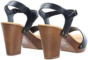 b0a2118955c58 Sculpted Retro Wood Block Heel Sandal - Lightweight Clogs Platform ...