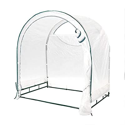 TrueShelter GH68 6' x 8' Green House, Large, White Silver