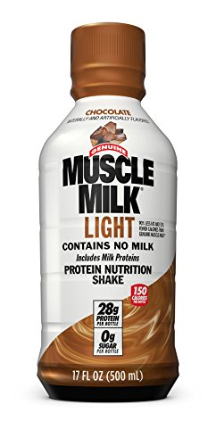 Muscle Milk Muscle Milk Light Protein Shake, Chocolate, 12 Count