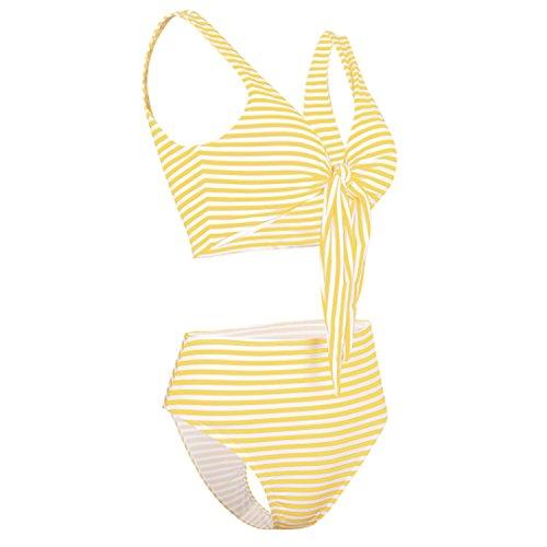 Jltph Alta Due Vita Bagno Imbottitura Beachwear Sexy Costumi A Set Da Push Giallo Donne Strisce Swimwear Up Pezzi Bikini wg8EzAwxqr