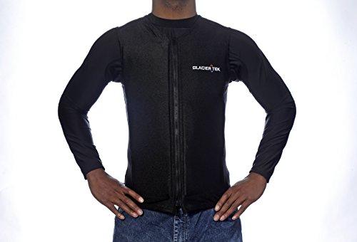 Flex Vest Cool Vest with Nontoxic Cooling Packs Black Medium (Chest Size 36-42) by Glacier Tek (Image #5)