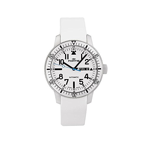 Fortis Diver White B-42 Automatic Men's Day-Date Watch 647.11.42.Si02