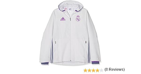 adidas Real Madrid CF Pre Y Chaqueta, Niños, Blanco/Morado, 7-8 ...
