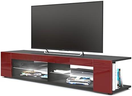 Mesa para TV Lowboard Movie, Cuerpo en Negro Mate/Frentes en ...