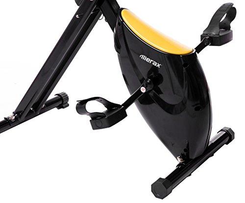 Merax Folding Upright Magnetic Exercise Bike with Pad Holder