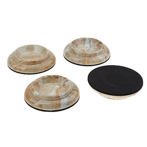 MagiDeal Pack of 4 Plastic Round Piano Caster Cup Feet Pad Floor Carpet Protector for Upright/Grand Piano Parts by non-brand
