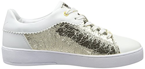Low Bugatti White Weiss Top Women's 235 Gold Sneakers J7608pr6n r6W6EOU
