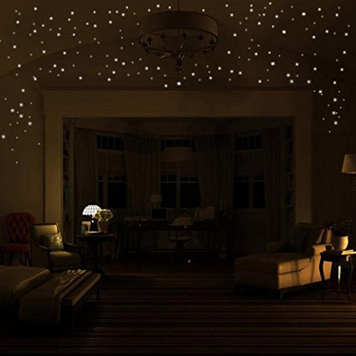 Arrow Switchplate - Glow In The Dark Stars Wall Stickers,104Pcs Adhesive Dots and Moon for Starry Sky, Perfect For Kids Bedding Room or Birthday Gift ,Beautiful Wall Decals by Forthery