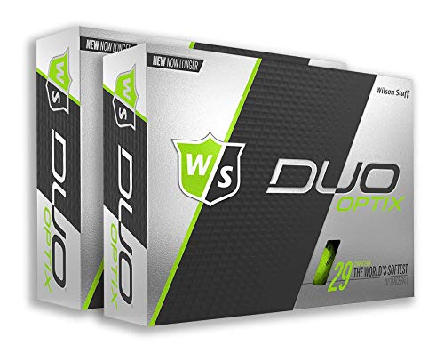 PlayBetter Wilson Staff Duo Optix Matte Bright-Colored Golf Balls | Multi-Packs (Two Dozen, Lectric Lime Green) (29 Green)