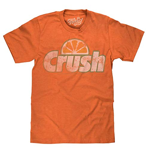 Tee Luv Orange Crush T-Shirt - Vintage Crush Soda Logo Graphic Tee Shirt (XXX-Large) ()