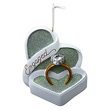 christmas ornaments for engaged couples living