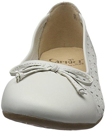 Caprice Leiligheter Ballett hvit Hvit Kvinners Nappa 22114 8rqxw8tf