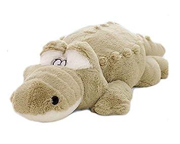 Totallyfashion 60cm/59, 7cm peluche coccodrillo giocattolo morbido peluche cuscino peluche bambola bambino cameretta novità decorazione tappeto cuscino 60CM/23.5' green
