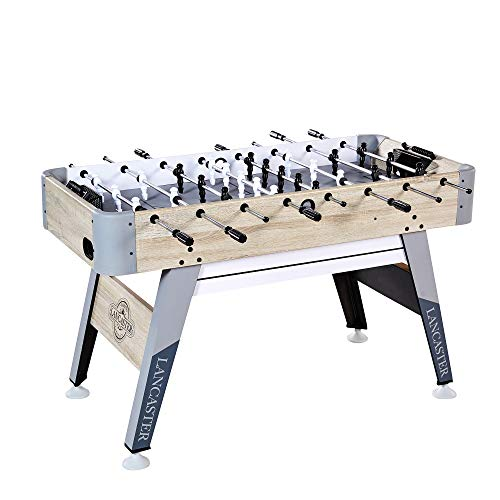 Soccer Table Foosball Action (Lancaster SOC054_118P 54 Inch Arcade Style Fooosball Table with Beaded Scoring)