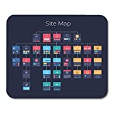 """sitemap.html Nakamela Mouse Pads Wireframe Site Concept of Flowchart Sitemap Layered Map Flat Mouse mats 9.5"""" x 7.9"""" Mouse pad Suitable for Notebook Desktop Computers"""