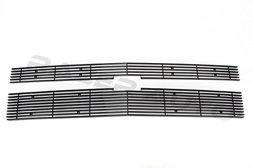 2014-2015 Chevy Silverado 1500 Black Overlay 2pcs Billet Grille (Fit Factory Honeycomb Grille only and do not fit on Z71 Model)