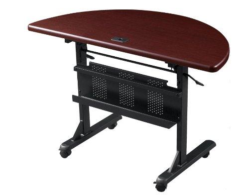 BALT 89877 Flipper Training Table, Half-Round, 48w x 24d x 29-1/2h, Mahogany by Balt