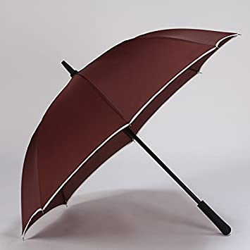 Huihong Largo Paraguas Paraguas Paraguas de Negocios Simple Reforzado Doble paraviento Grande Golf Paraguas Paraguas Mango