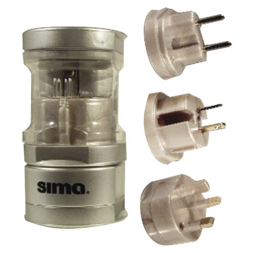 Sima International Plug - SIMA SIP-3 International Compact Travel Power Plug Set