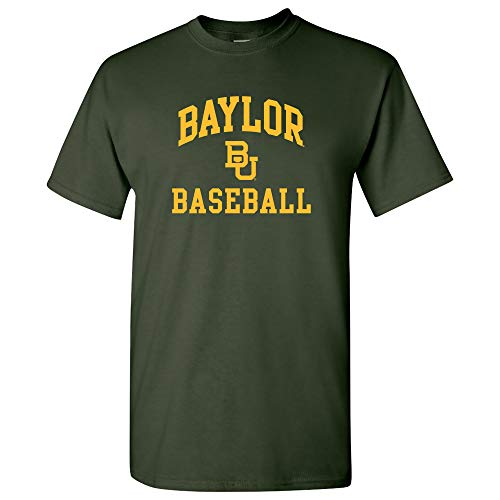 UGP Campus Apparel AS1095 - Baylor Bears Arch Logo Baseball T-Shirt - Small - Forest