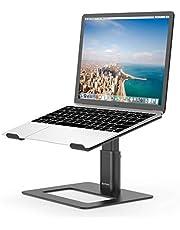 BoYata laptopstandaard, in hoogte verstelbare, geventileerde laptophouder, notebookstandaard compatibel met 10-15,9'' MacBook Pro/Air, HP, Dell, Lenovo, Samsung, Acer, HUAWEI MateBook