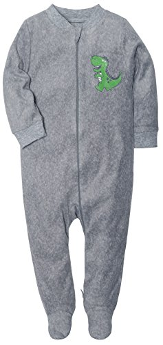 Gray Sleeper - SH Downy Onesies Relaxed Warm Sleeper For Baby Footed Pajamas With Zipper