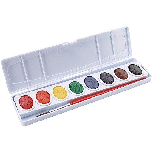 Prang Box - Prang Watercolor Paint Cakes, Assorted Colors, 8/pkg
