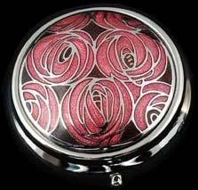 Pill Box in a Mackintosh Roses Design. (Rennie Mackintosh Jewellery)