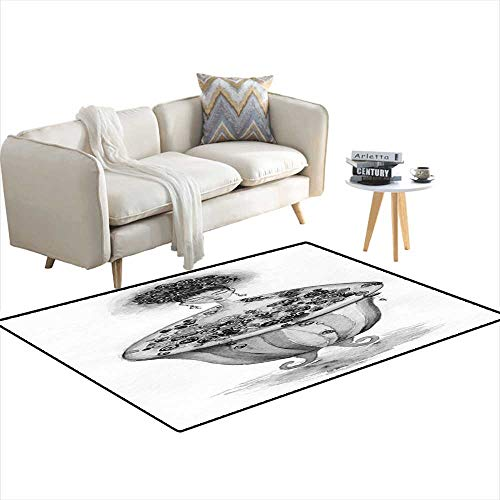 Room Home Bedroom Carpet Floor Mat Woman in ba Watercolor for sale  Delivered anywhere in USA