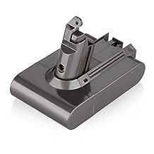 Floureon 21.6V 6S 2000mAh 43.2W Li-ion Replacement Vacuum Cleaner Battery Rechargeable for Dyson DC58, DC59, DC61, DC62 Animal Dyson V6 Portable Vacuum