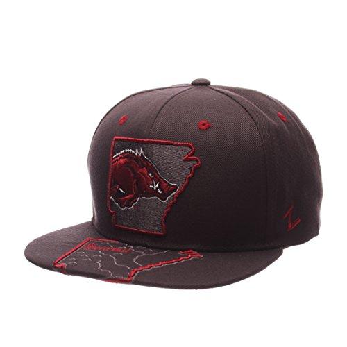 Arkansas Razorbacks Ncaa (NCAA Arkansas Razorbacks Men's Stateline Snapback Cap, Adjustable Size, Charcoal)