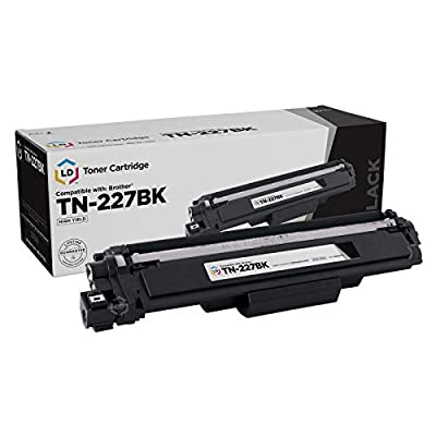 LD Compatible Toner Cartridge Replacement for Brother TN-227BK High Yield (Black)